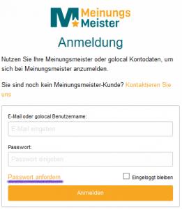 Passwortvergessen 2