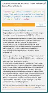 Zertifikatswidget AnleitungmDSGVO