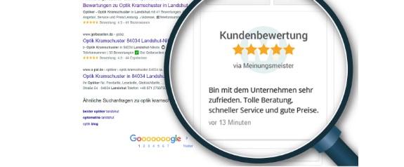 Kundenbewertungen im Google Knowledge Graph