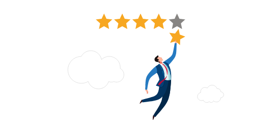 Review Stars Cartoon Man