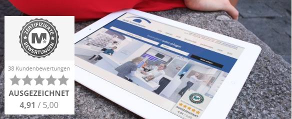 Kundenbewertungen Widget auf Homepage