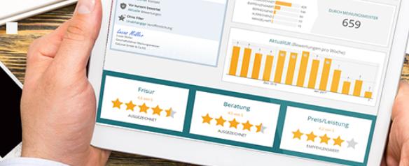 Unternehmensbereich Statistiken zu Bewertungen